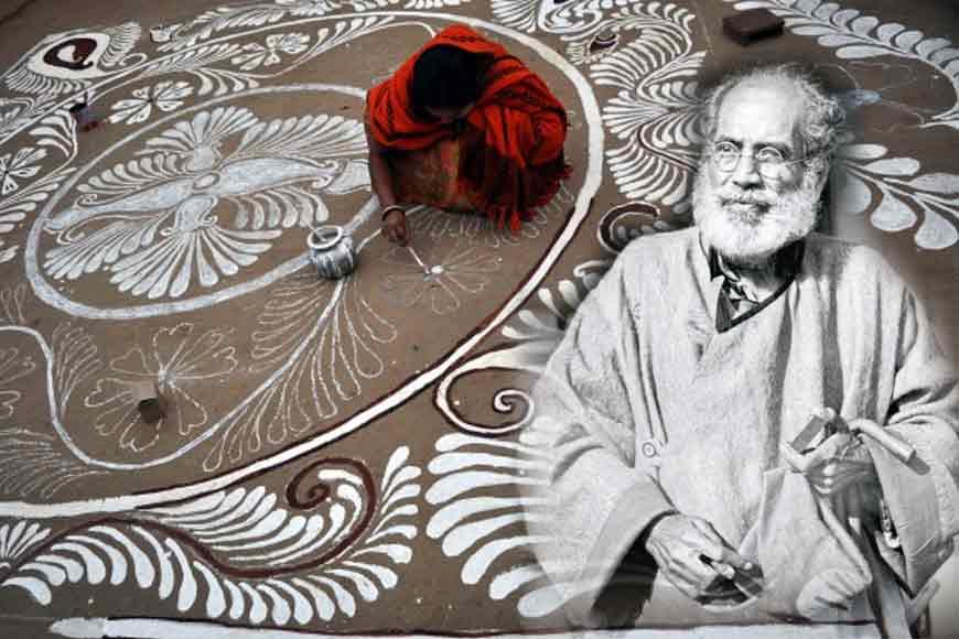 Aban Thakur's book on alpona endorsing alpona art by Bengal's women
