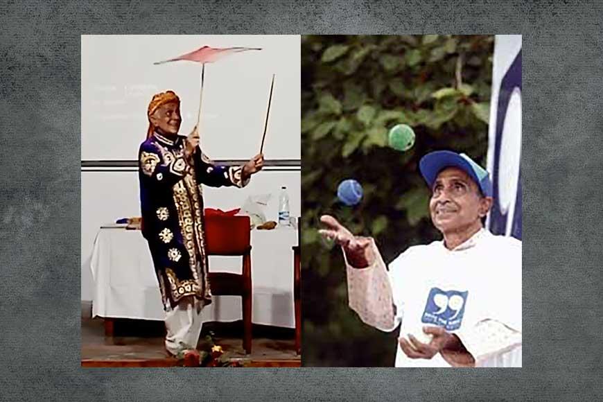 Tribute to Abhay Mitra, the master juggler of Joy Baba Felunath