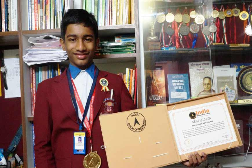 Qualifying in 73 Mathematics Olympiads, Kharagpur's Archisman Nandy sets record