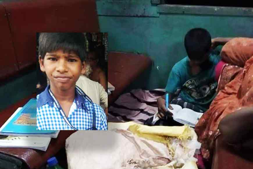 Arjun, a platform destitute at Sealdah Station fights poverty and studies in train compartments