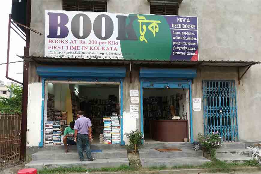 Here's a city book shop selling books by kilos