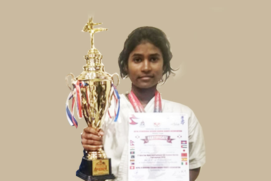Canning's Champa fights poverty to win 3rd position in Asia Karate Champs!