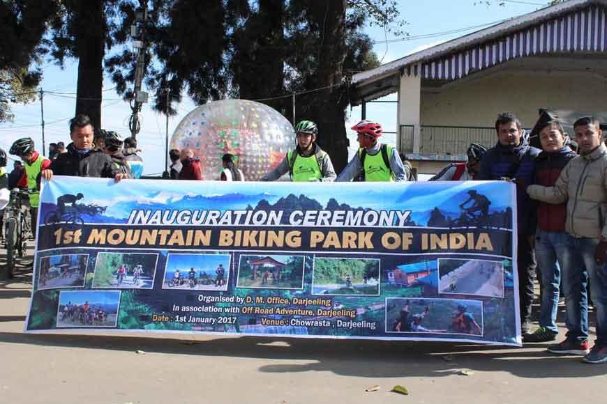 Mountain biking at 7000 ft in Darjeeling