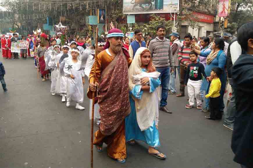 Musical parade at Kolkata Christmas Carnival