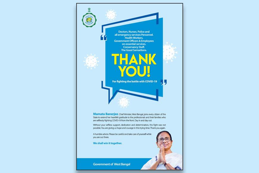 CM Mamata Banerjee thanks all 'Corona Warriors' through a touching note
