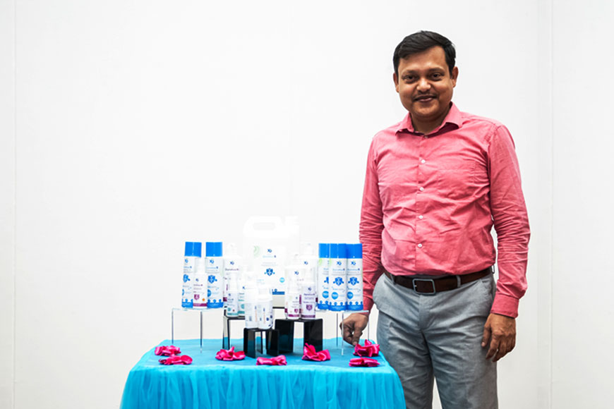 Bengali scientist creates long-lasting disinfectant to ward off COVID-19