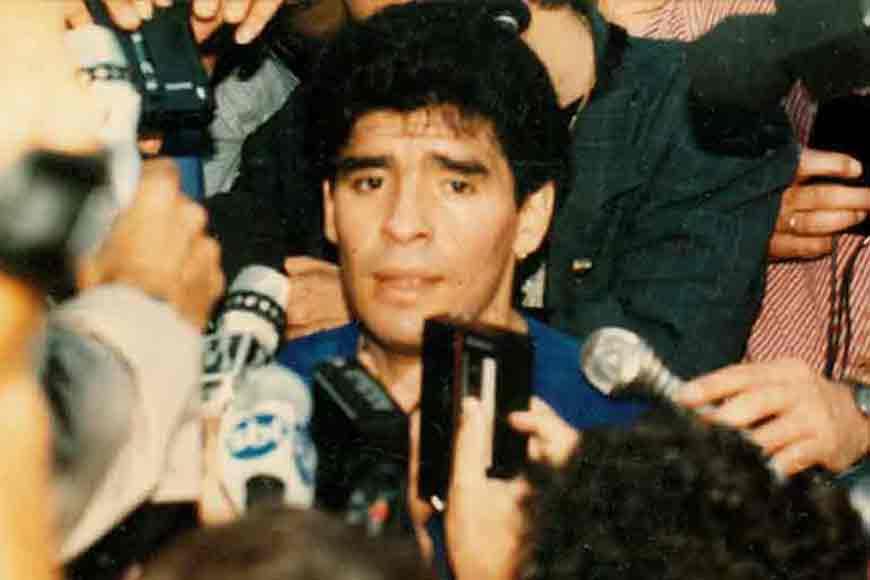 How was it like to watch Maradona on the field