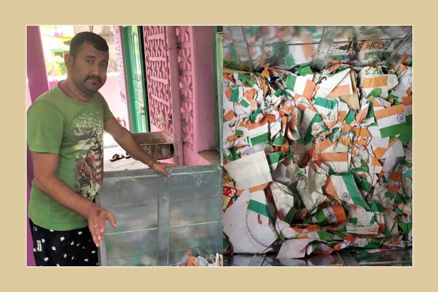 Priyaranjan Sarkar – Bengal's flag collector, picks thrown away Indian flags from streets