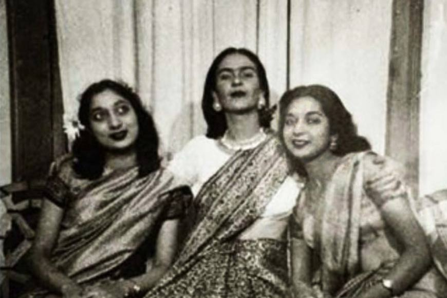 When Saree crossed borders and draped Mexican artist Frida Kahlo
