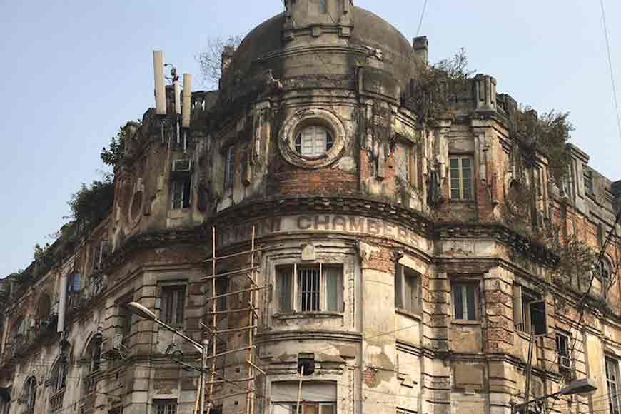 Part of Kolkata's Heritage Futnani Chambers caves in last night!