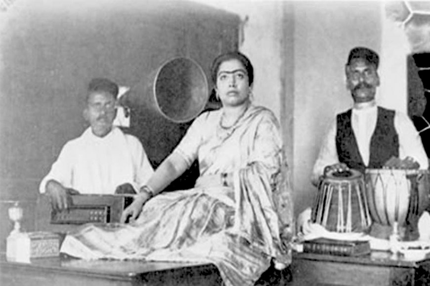 Gauhar Jaan of Calcutta was the first to record Hindustani classical music on Gramophone in India
