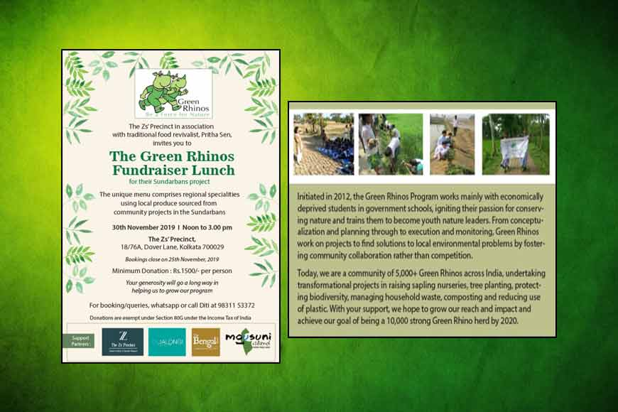 Join the Green Rhinos Fundraiser Lunch at Z's Precinct tomorrow