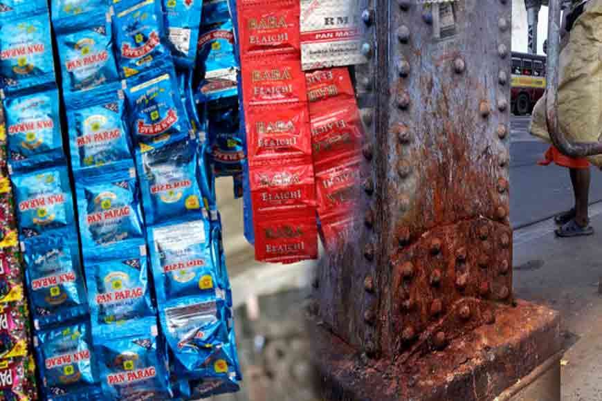 Blanket ban on Gutka & Pan Masala! Look how they almost destroyed Howrah Bridge
