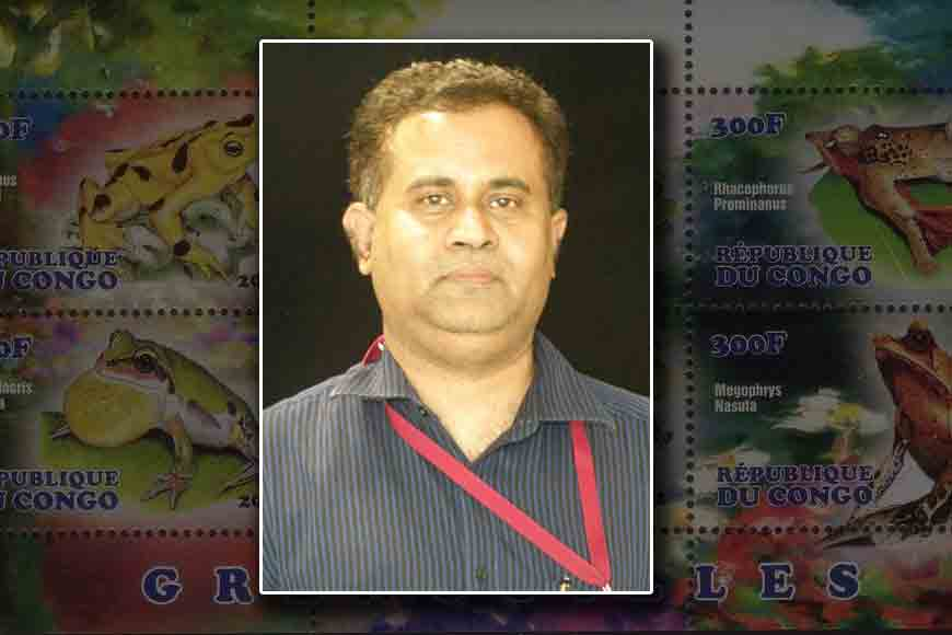 Bengali professor in Guinness Book for frog stamps