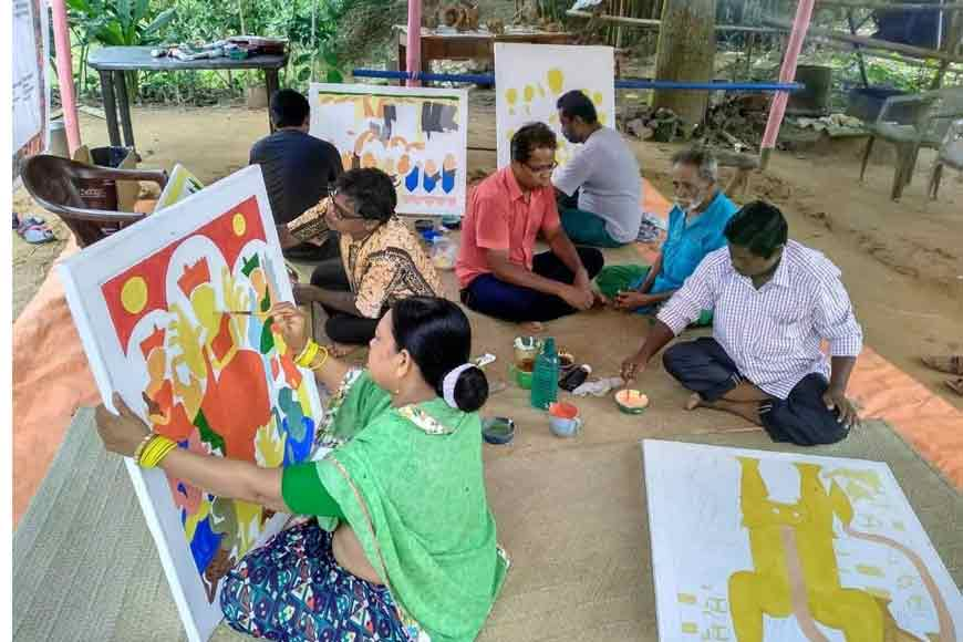 Chalchitra Academy celebrated a vibrant Potochitra Painting workshop at Jhargram!