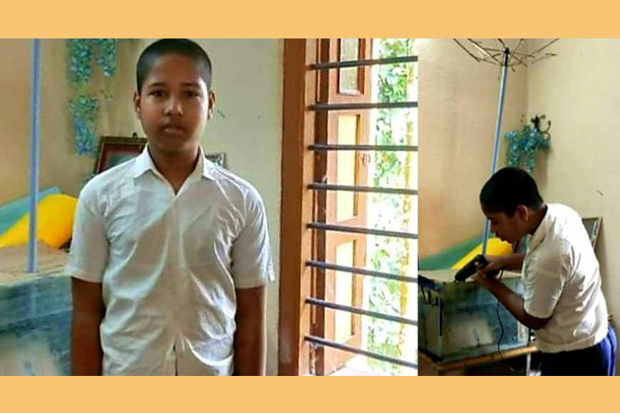 Class VI student of East Midnapore builds a 'Lightning resistant Umbrella' to save lives
