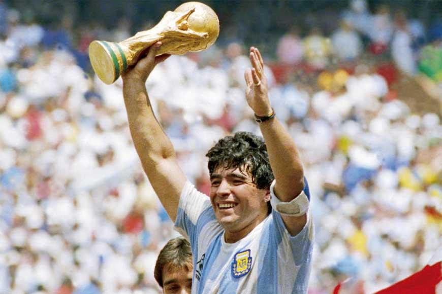 I have never seen anyone like Maradona in my lifetime