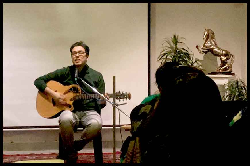 Anupam Roy strikes a musical storm at MAYA adda