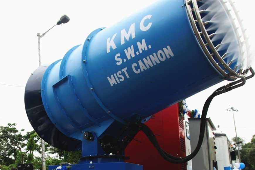 KMC brings 'Mist Cannon Machine' to sanitize Kolkata Streets