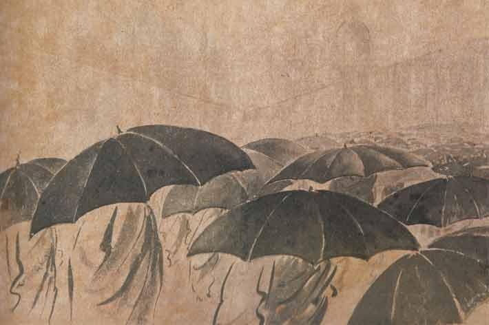 Gaganendranath gave a rainy touch to Rabindranath Tagore's Jibonsmriti