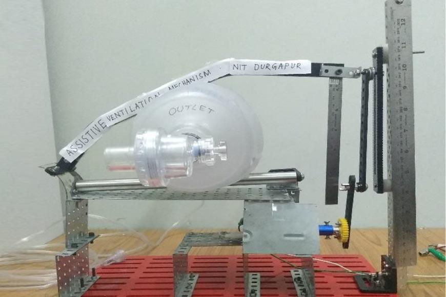 NIT Durgapur students build 'Pranesh,' an economic ventilator for COVID-19 patients