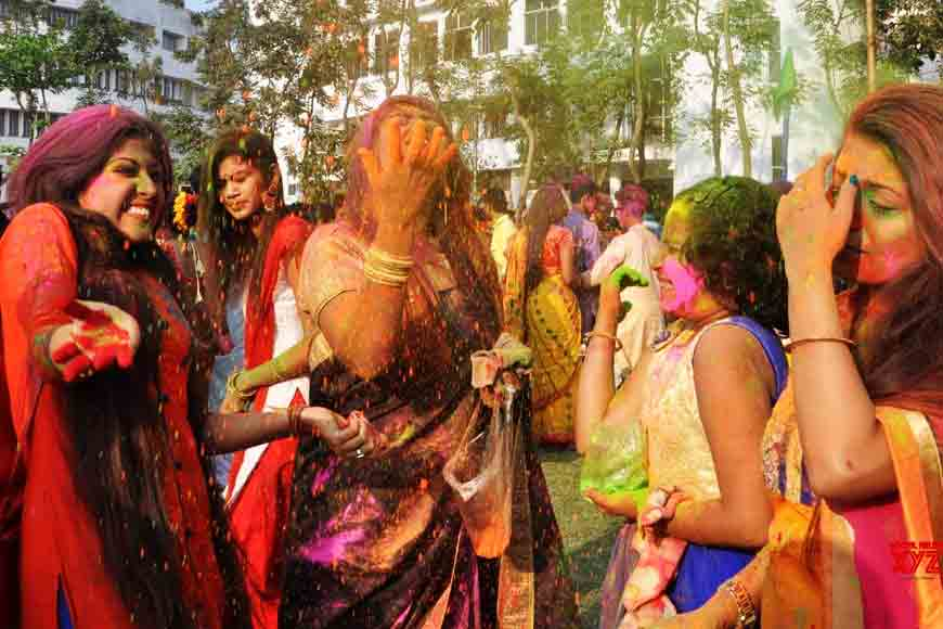 How Rabindra Bharati University celebrated Basanta Utsav