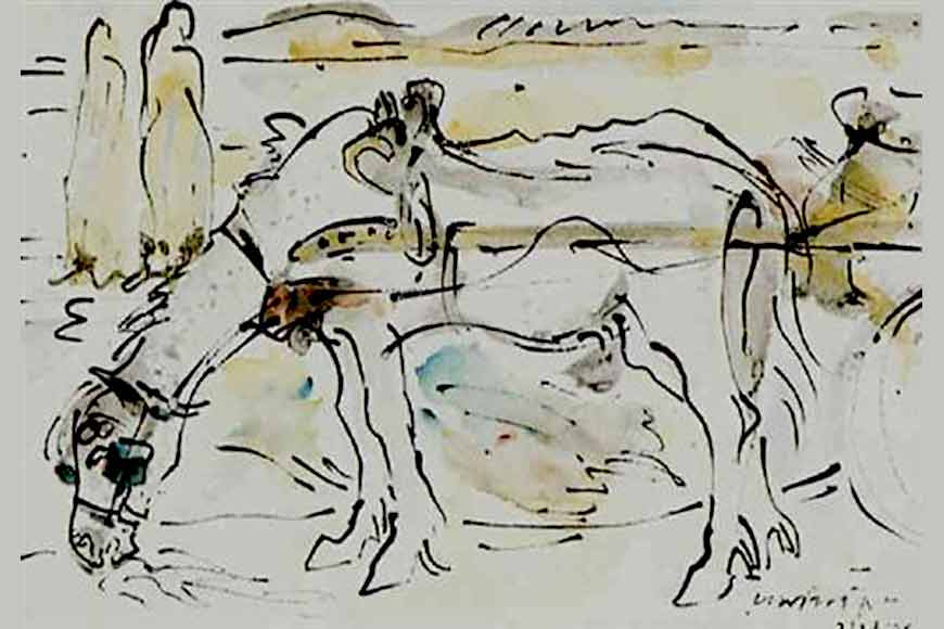 Sino-Japanese horses are great but Ramkinkar's horses are incomparable