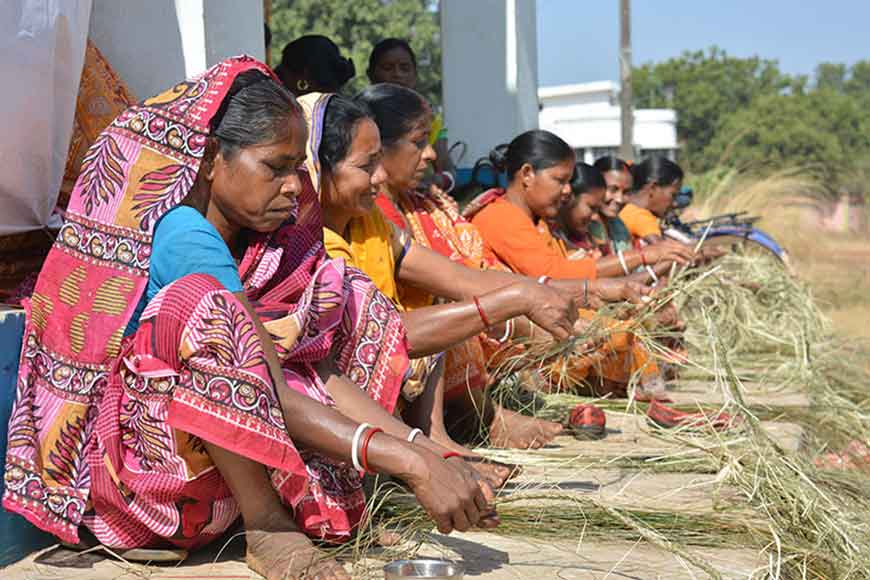 Sabai Grass turns into exquisite art in the hands of Bengal's tribal women and travels abroad