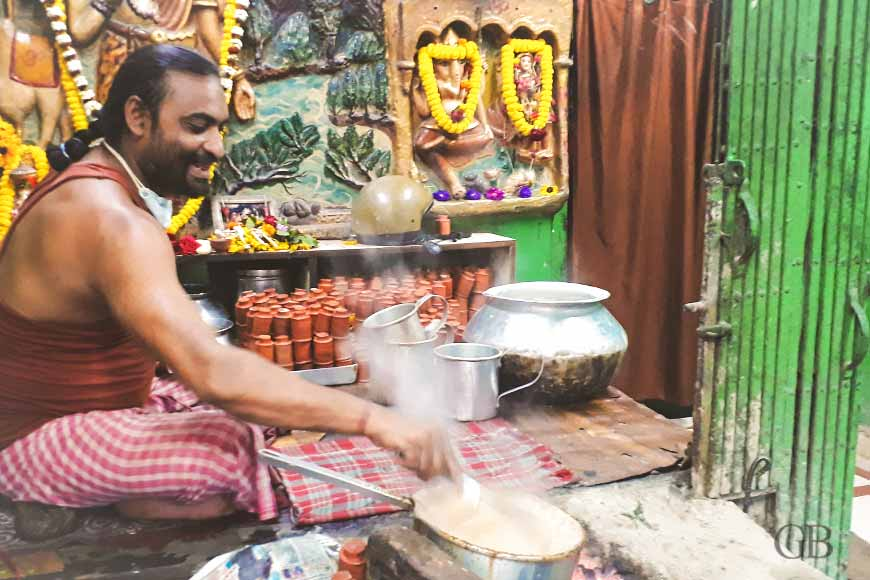 Baba Bhootnath's tea stall at Nimtala Ghat