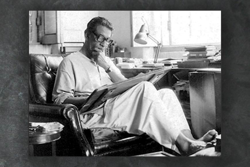 On his birth anniversary, not the director – but calligrapher Satyajit Ray