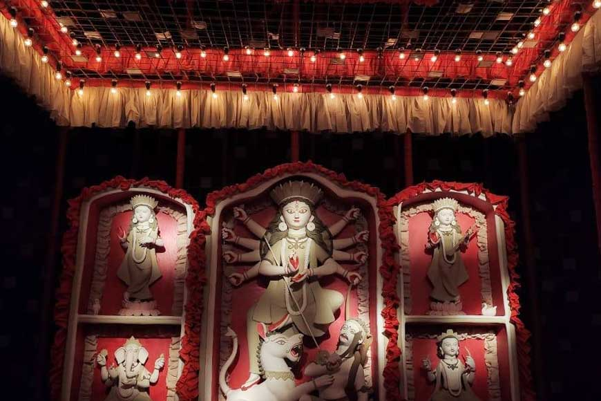 Susanta Paul, famous installation artiste juggling themes in 3 major pujas of Kolkata