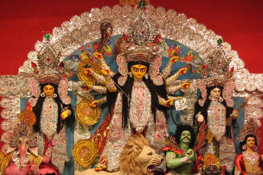 Season's tallest Durga idol sets sail for USA