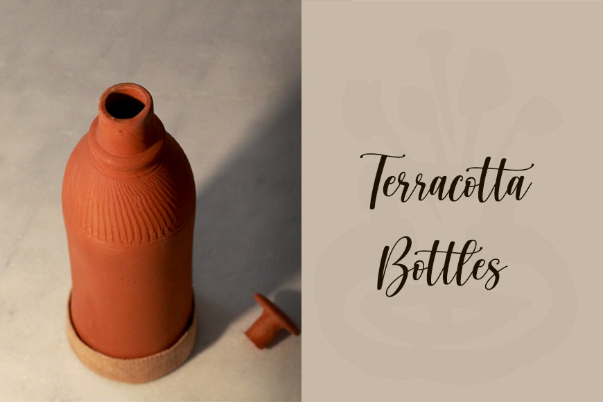 Terracotta water bottles, your healthy lifestyle option