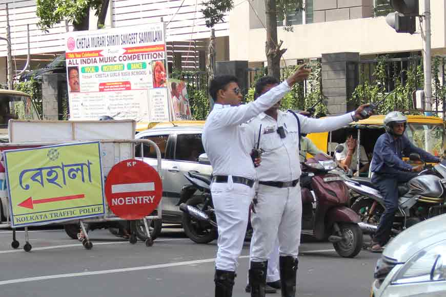 Undaunted foot soldiers of Kolkata Traffic Police