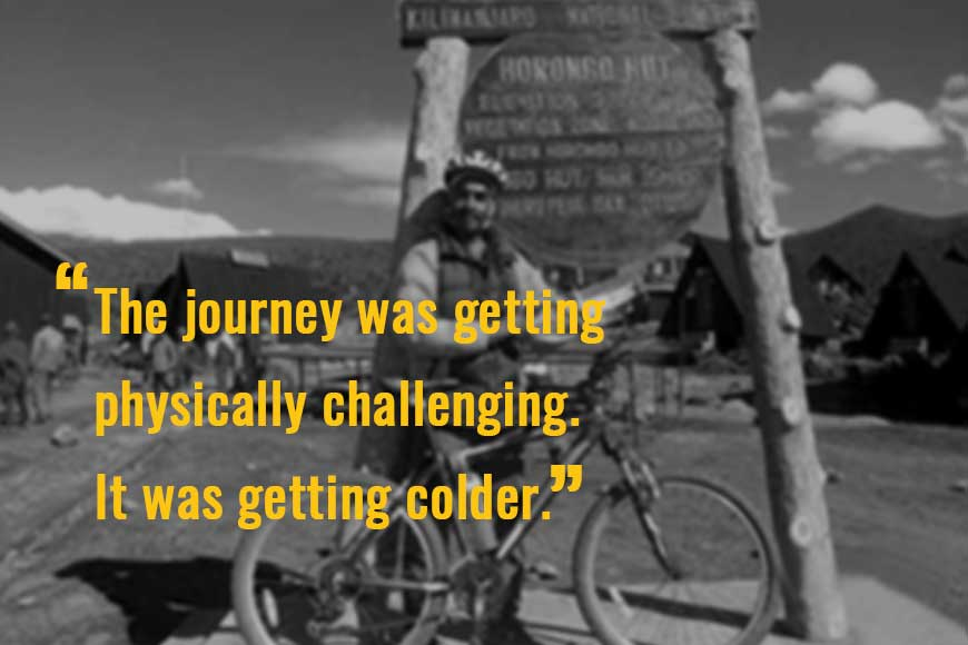 The Treeman's Diary --- Reaching atop Mt Kilimanjaro on a cycle