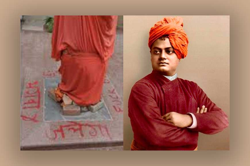 Statue vandalised in JNU! Didn't Swami Vivekananda preach tolerance?
