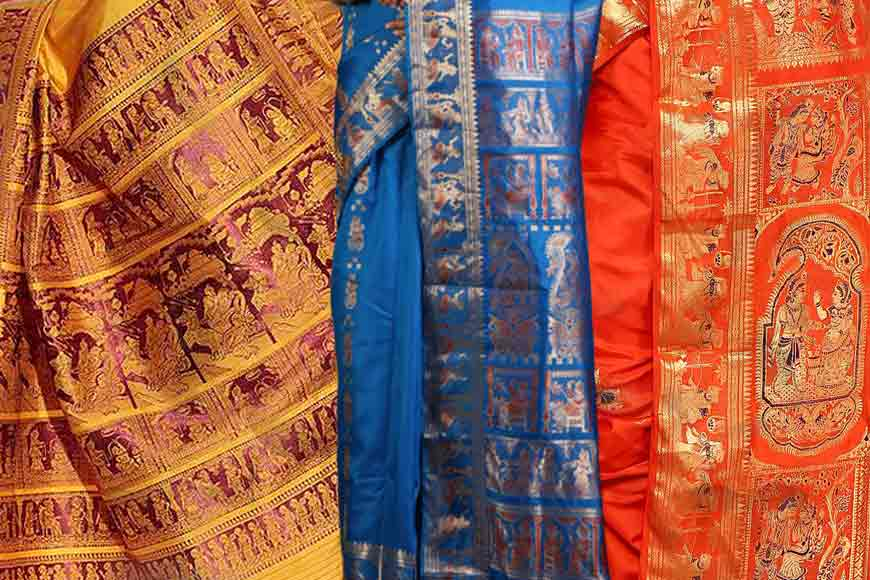 Woven tales of a Baluchari Saree