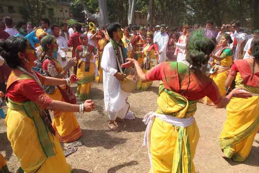 Basanta Utsav of Santiniketan was started by Tagore's 'Shomi'