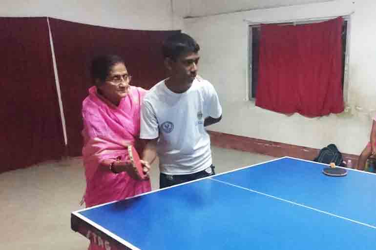 She coaches Table Tennis stars from Bengal at 75!