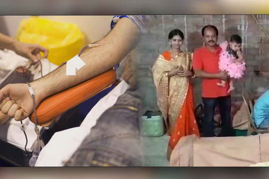 Father organizes blood donation camp on daughter's annaprasan
