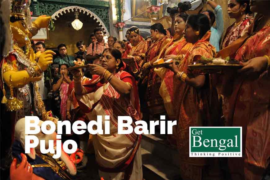 old Kolkata Durga Pujo where Mahishasura wears coat and pants