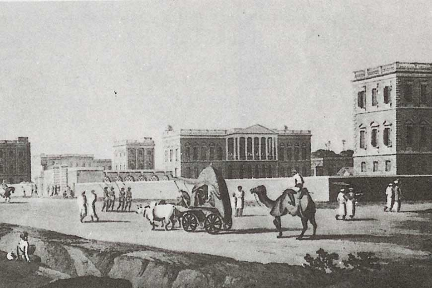 William Daniell's canvas and elephants on Chowringhee!