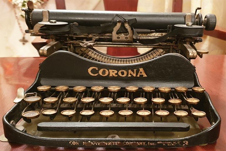 Century-old Corona Typewriter lies in Quarantine at Darjeeling