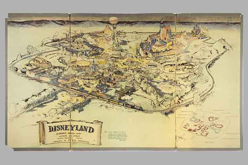 First hand-sketched map of Disneyland sold at $708,000