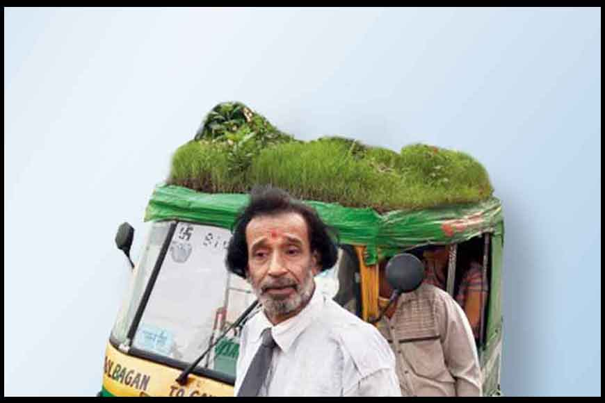 Kolkata's innovative Green Auto with foliage and flowers on top