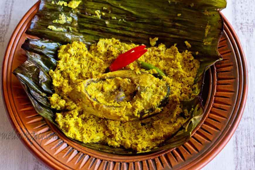 With the monsoon still hovering, try some Ilish Paturi