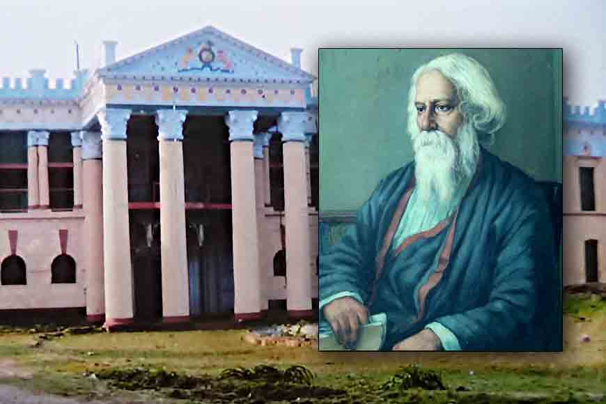 What was Tagore doing at Kashimbazar Rajbari?