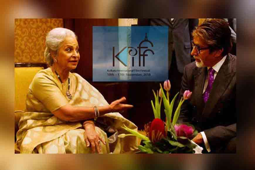 Catch Amitabh and Waheeda on the KIFF stage today!