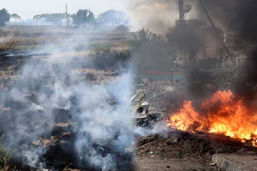 Is Haryana-Punjab's stubble burning similar to Bengal's straw and garbage burning?