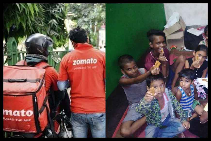 Zomato delivery man who feeds poor children with cancelled orders
